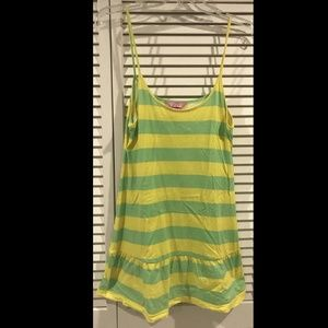 Victoria's Secret PINK Yellow & Green Striped Tank